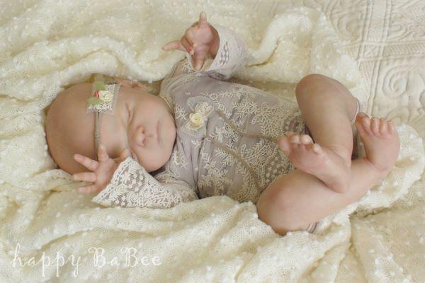 Newborn rebornbaby Kleidung Vintage Spitze Taufe Fotoshooting