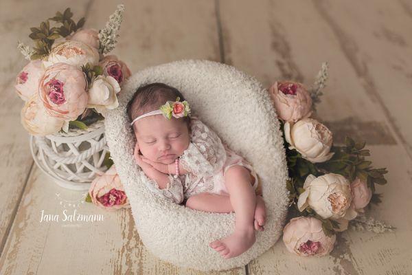 Photoprops Baby Set für Fotografie, Fb. Rosé - Ivory