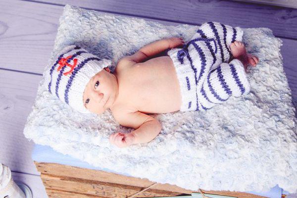 Newborn Set Kostüm Maritim für Fotografie