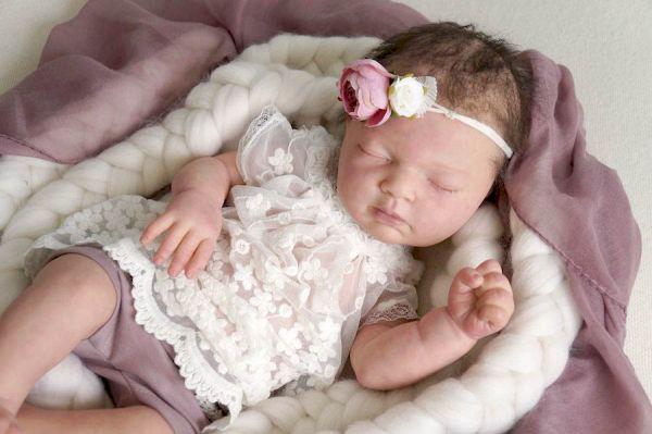 Baby Taufkleid, Spitzenkleid, Neugeborenenkleid für Fotoshooting