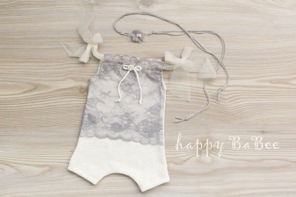 Newborn Outfit in Shabbychick Optik