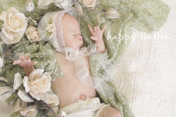 Newborn reborn Haube Taufe Fotoshooting Fotoprops