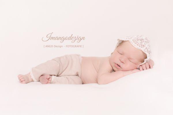 Newborn Photo Props Hose und Haube aus Spitze