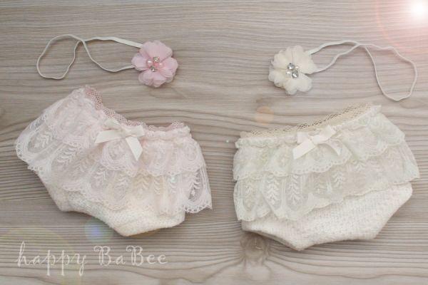 Baby Hose mit Rüschen für Baby Fotoshooting