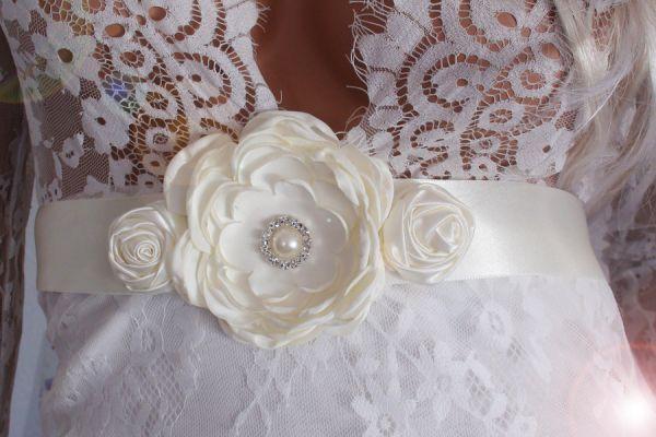 Schärpe für das Brautkleid