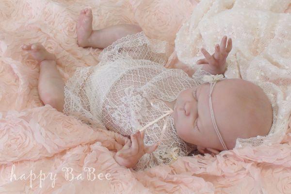 Newborn Reborn Baby Kleidung Taufe Fotoshooting Spitze