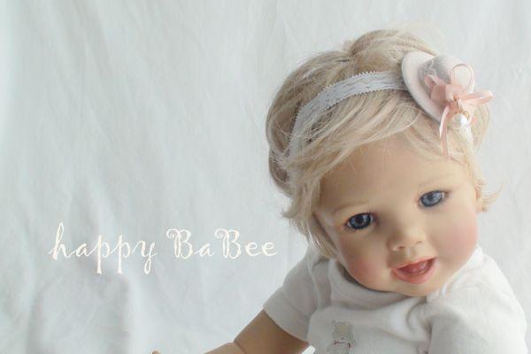 Baby Haarband HUT Fb. Puder