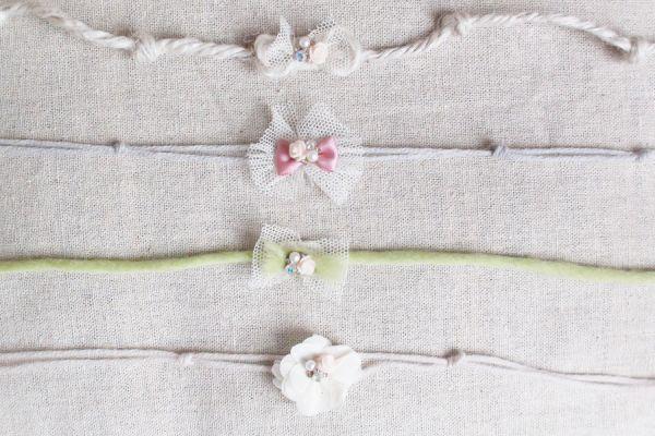 Zarte Haarbänder für Babyfotografie 4 VAR.