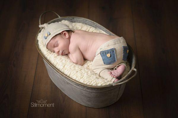 Baby Outfit für Neugeborenen Fotoshooting, Hose,Mütze