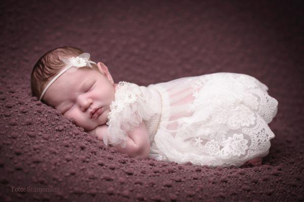 Newborn Set Taufkleid und Haarband