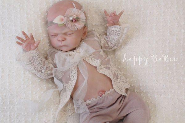 Newborn Jacke aus Spitze Vintage Optik