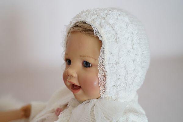 Babyhaube für Taufe oder Babyshooting