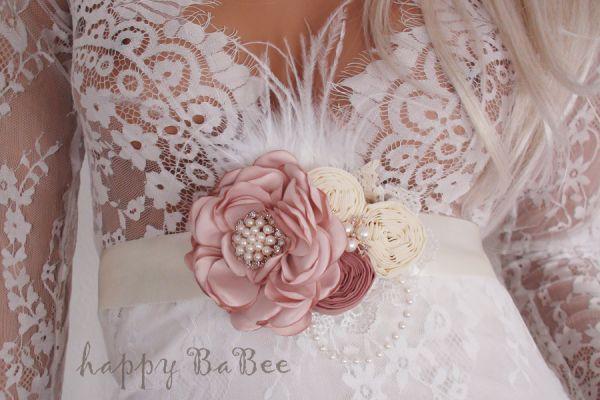 Schärpe Hochzeitskleid Brautgürtel Babybauchband