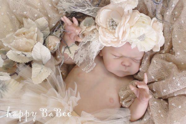 Baby Neborn haarband Vintage