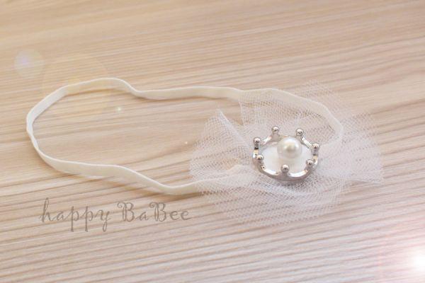 Haarband für Baby Krone