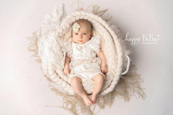 Baby Taufkleid, Kleid für Neugeborenen Fotografie