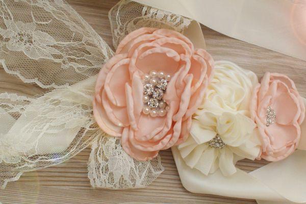 Schärpe Brautkleid Bauchband Schwangerschaft