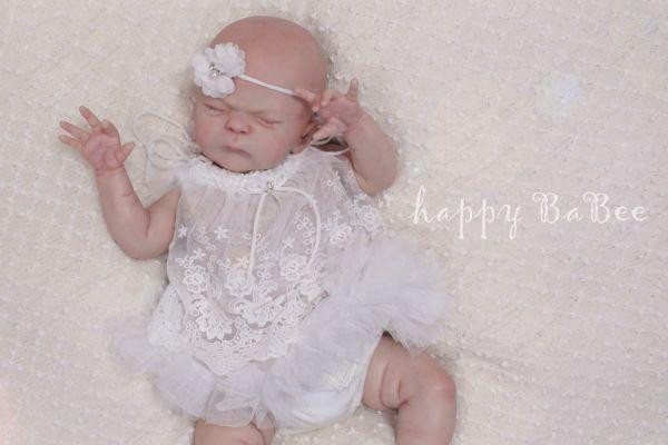 Baby Vintage Kleid Spitze Romantisch Fotoshooting Taufe