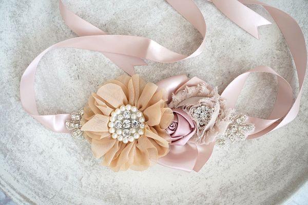 Bauchband Schärpe für Fotoshooting und Hochzeitskleid