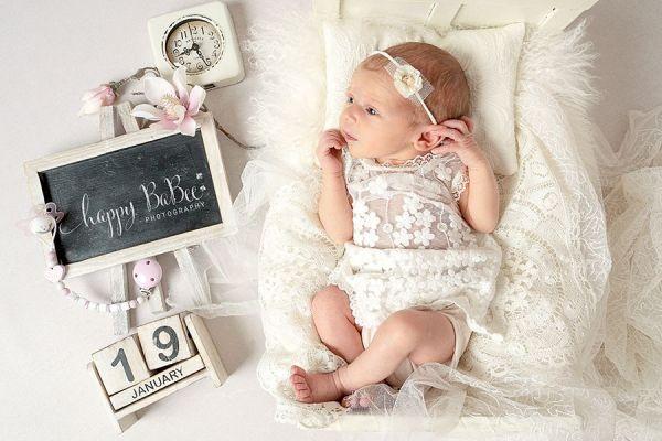 Baby Taufkleid, Kleid für Fotoshooting