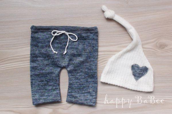 Baby Set für Jungs Hose und Zipfelmütze