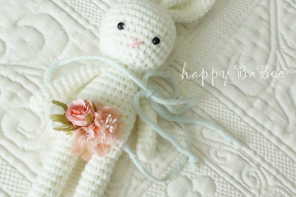 Baby Haarband Fotoaccessoires Fb. Rosé-Ivory-Mint